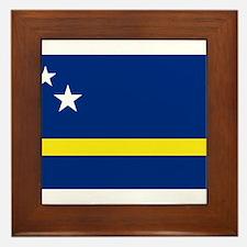 Curacao Flag Framed Tile