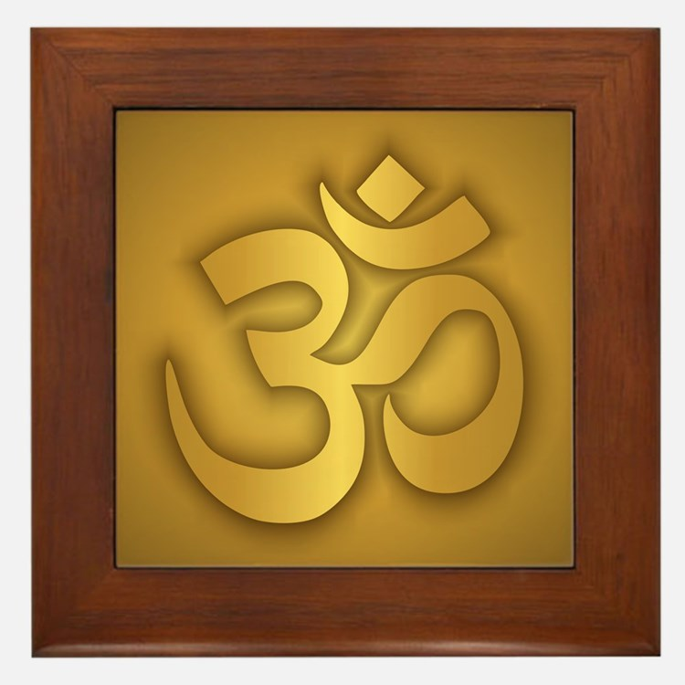 Om Framed Tile