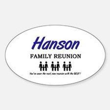 Hanson Family Reunion Oval Decal