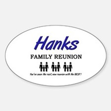 Hanks Family Reunion Oval Decal