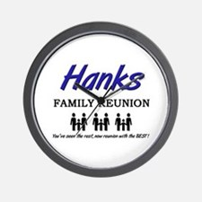 Hanks Family Reunion Wall Clock
