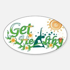 Get Healthy Oval Decal