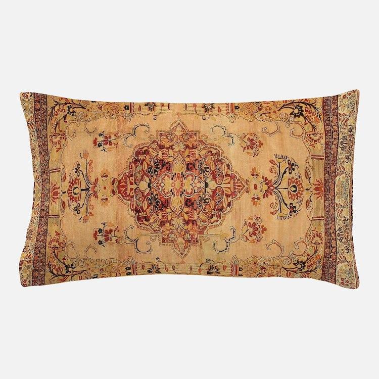 Antique Kerman flowered Pattern Pillow Case
