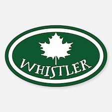 Whistler Maple Leaf Sticker (Oval)