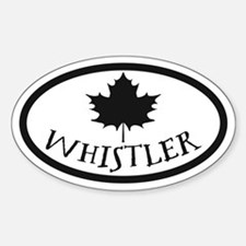 Whistler Maple Leaf Decal