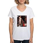 Princess & Papillon Women's V-Neck T-Shirt