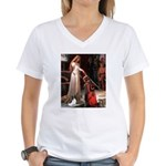 Princess & Papillon Women's V-Neck T-Shirt