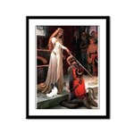 Princess & Papillon Framed Panel Print