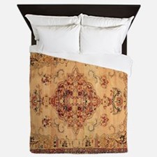 Antique Kerman flowered Pattern Queen Duvet