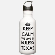 Keep calm we live in E Water Bottle