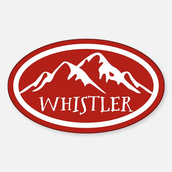 Whistler Mountain Sticker (Oval)