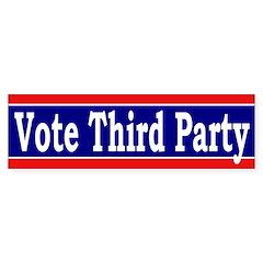 Vote Third Party (bumper sticker)
