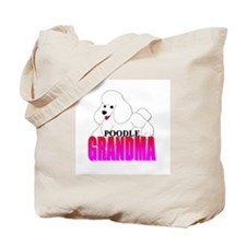 White Poodle Grandma Tote Bag