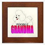 Poodle grandma Framed Tiles