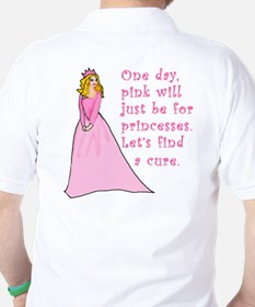 Pink Princess Find a Cure Golf Shirt