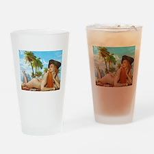 Pirate Girl Drinking Glass
