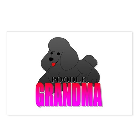 Poodle Grandma Postcards (Package of 8)