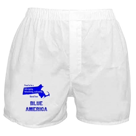 Blue America - Massachusetts Boxer Shorts