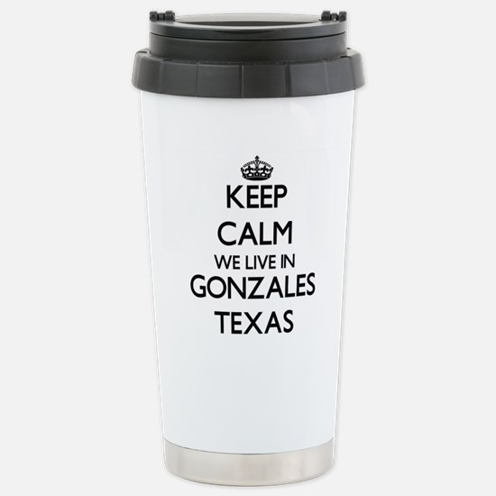 Keep calm we live in Go Stainless Steel Travel Mug