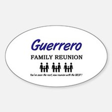 Guerrero Family Reunion Oval Decal
