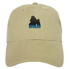 Black Poodle Dad Baseball Cap