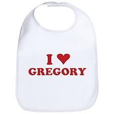 I LOVE GREGORY Bib