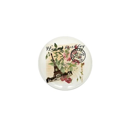 Vintage French Chic Mini Button (10 pack)