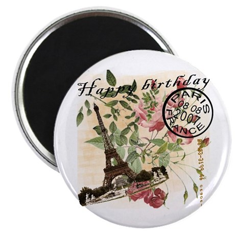 """Vintage French Chic 2.25"""" Magnet (100 pack)"""
