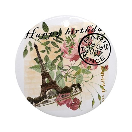Vintage French Chic Ornament (Round)