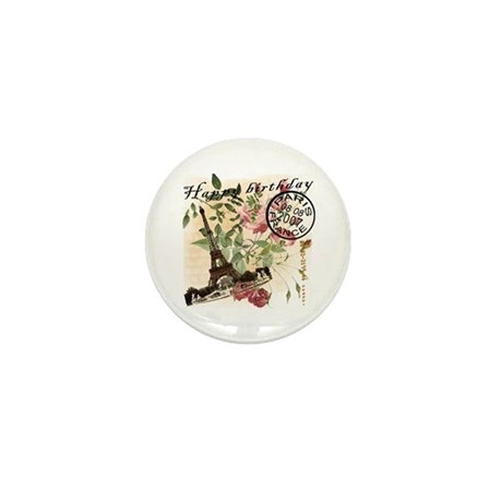 Vintage French Chic Mini Button