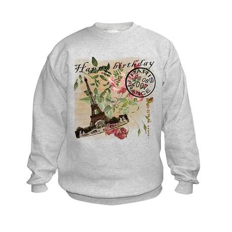 Vintage French Chic Kids Sweatshirt
