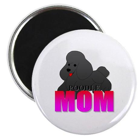 Black Poodle Mom Magnet