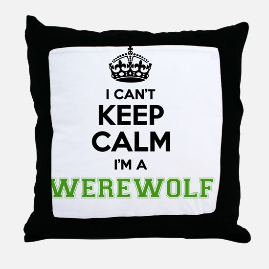 Funny Werewolf Throw Pillow