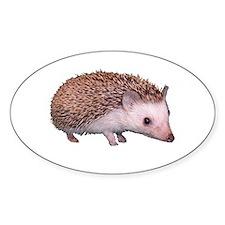 Davis the Hedgehog Oval Decal