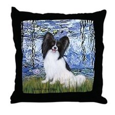 Lilies (#6) & Papillon Throw Pillow