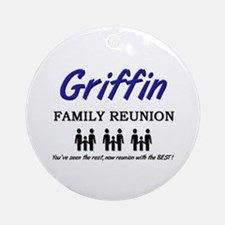 Griffin Family Reunion Ornament (Round)
