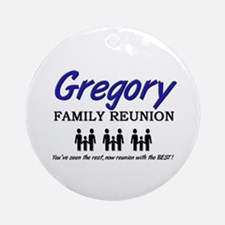 Gregory Family Reunion Ornament (Round)