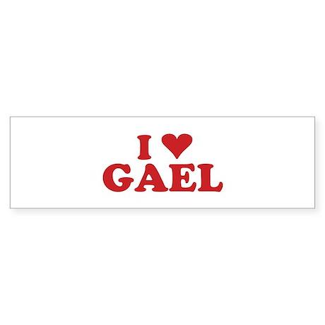 I LOVE GAEL Bumper Sticker