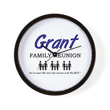 Grant Family Reunion Wall Clock