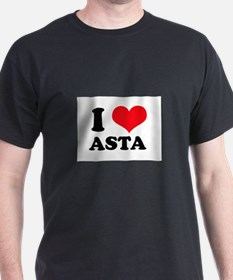 I Love Heart Asta T-Shirt