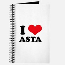 I Love Heart Asta Journal