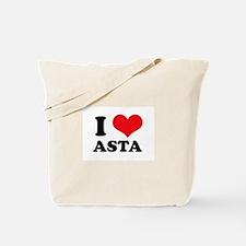 I Love Heart Asta Tote Bag