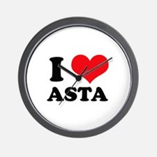 I Love Heart Asta Wall Clock