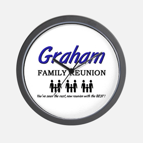 Graham Family Reunion Wall Clock
