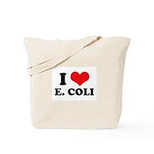 I Love Heart E. Coli Tote Bag