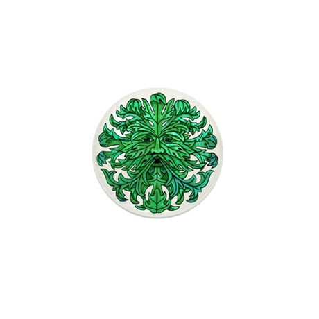 Green Man Gaze Mini Button (10 pack)