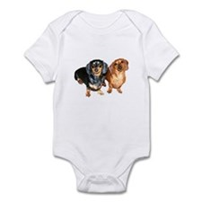Double Dachshund Dogs Infant Bodysuit