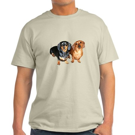 Double Dachshund Dogs Light T-Shirt