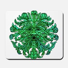Green Man Gaze Mousepad