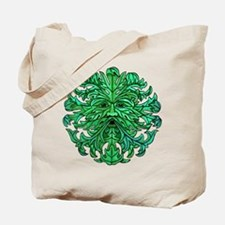 Green Man Gaze Tote Bag
